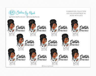 Jackie With Locs - Doctor Appointment #1 - Medical Planner Stickers