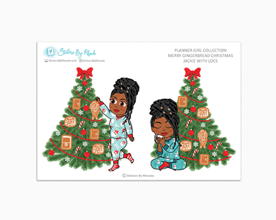 Jackie With Locs - Merry Gingerbread Christmas - Planner Girl Collection - Limited Edition - Christmas Stickers
