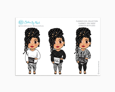 Jennifer With Locs -  Limited Edition - Planner Girl Sassy - Planner Girl Collection