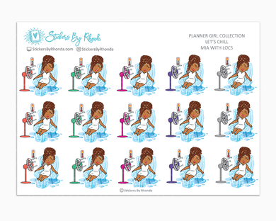 Mia With Locs - Let's Chill - Planner Stickers