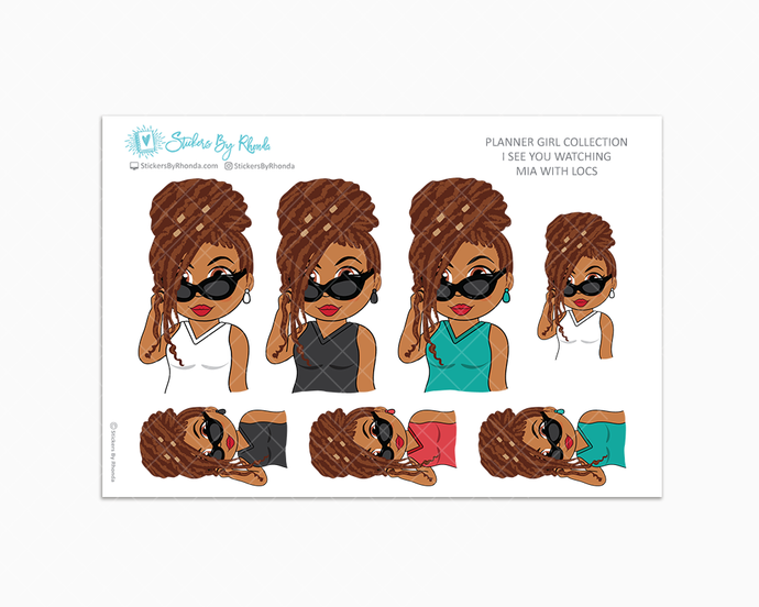 Mia With Locs - I See You Watching -  Limited Edition - Planner Girl Collection