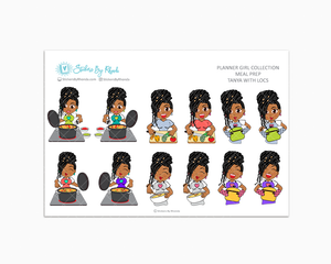 Tanya With Locs - Meal Prep/Cooking Planner Stickers