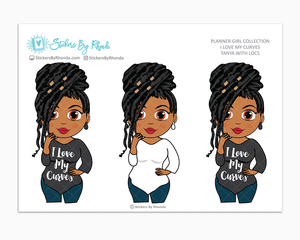 Tanya With Locs - I Love My Curves - Limited Edition - Planner Girl Collection