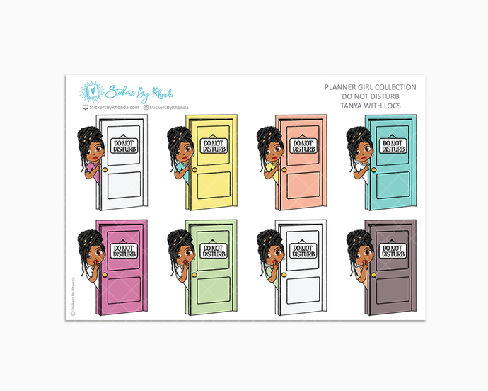Tanya With Locs - Do Not Disturb Planner Stickers