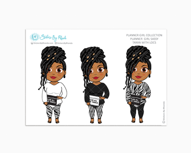 Tanya With Locs -  Limited Edition - Planner Girl Sassy - Planner Girl Collection