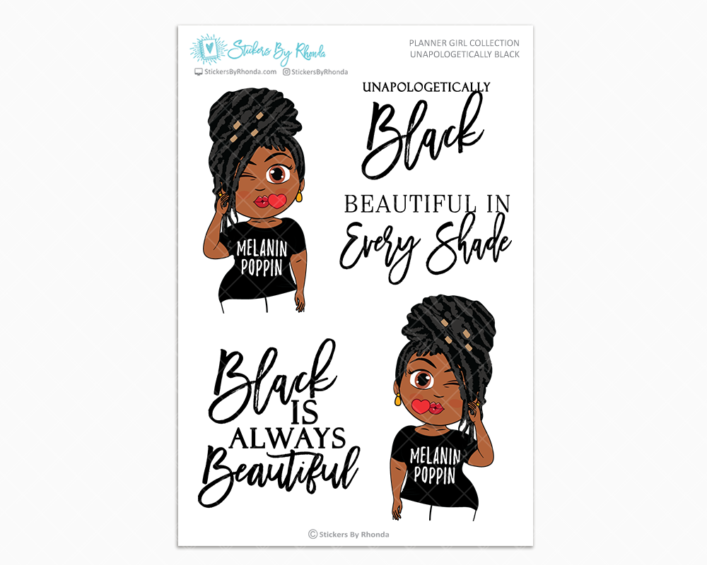 Jackie With Locs  - Unapologetically Black- Limited Edition - Planner Girl Collection