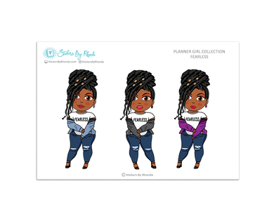 Jackie With Locs - Fearless - Limited Edition - Planner Girl Collection