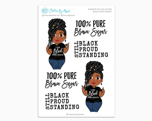 Jackie With Locs - Black Every Month - Limited Edition - Planner Girl Collection