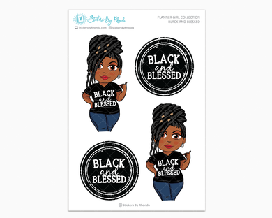 Jackie With Locs - Black and Blessed - Limited Edition - Planner Girl Collection
