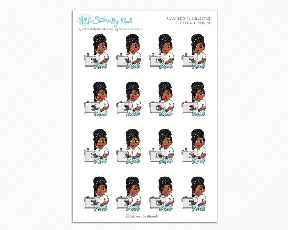 Jackie With Locs - Let's Craft: Sewing - Planner Girl Collection