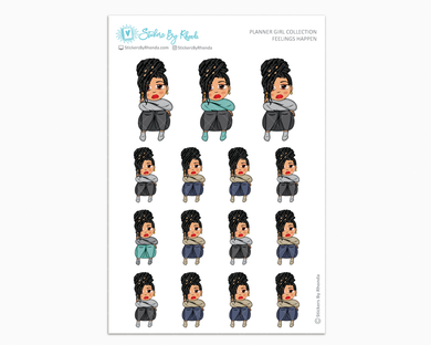 Jennifer With Locs - Feelings Happen - Planner Girl Collection - Planner Stickers