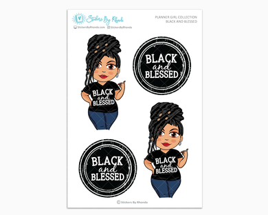 Jennifer With Locs - Black and Blessed - Limited Edition - Planner Girl Collection