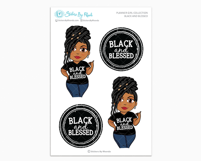 Tanya With Locs - Black and Blessed - Limited Edition - Planner Girl Collection