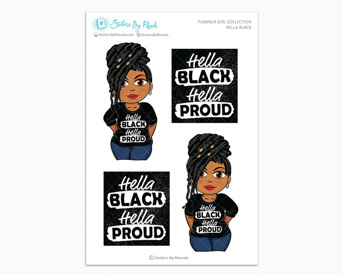 Tanya With Locs - Hella Black - Limited Edition - Planner Girl Collection