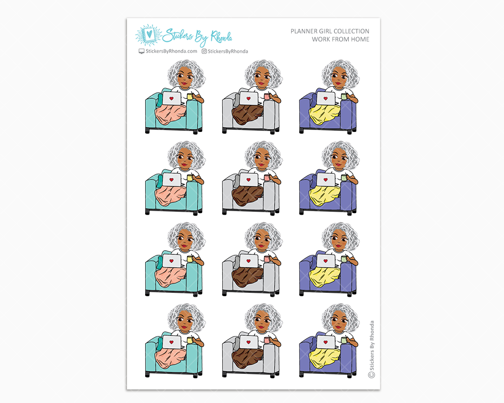 Sylvia - Work From Home - Mature Planner Girl Collection