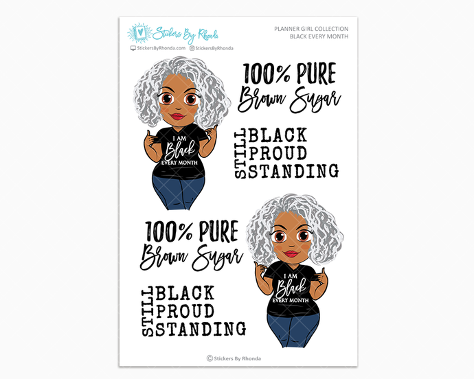 Sylvia - Black Every Month - Limited Edition - Planner Girl Collection