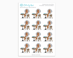 Sylvia - Chillaxing - Coffee/Tea (Small) - Planner Girl Collection