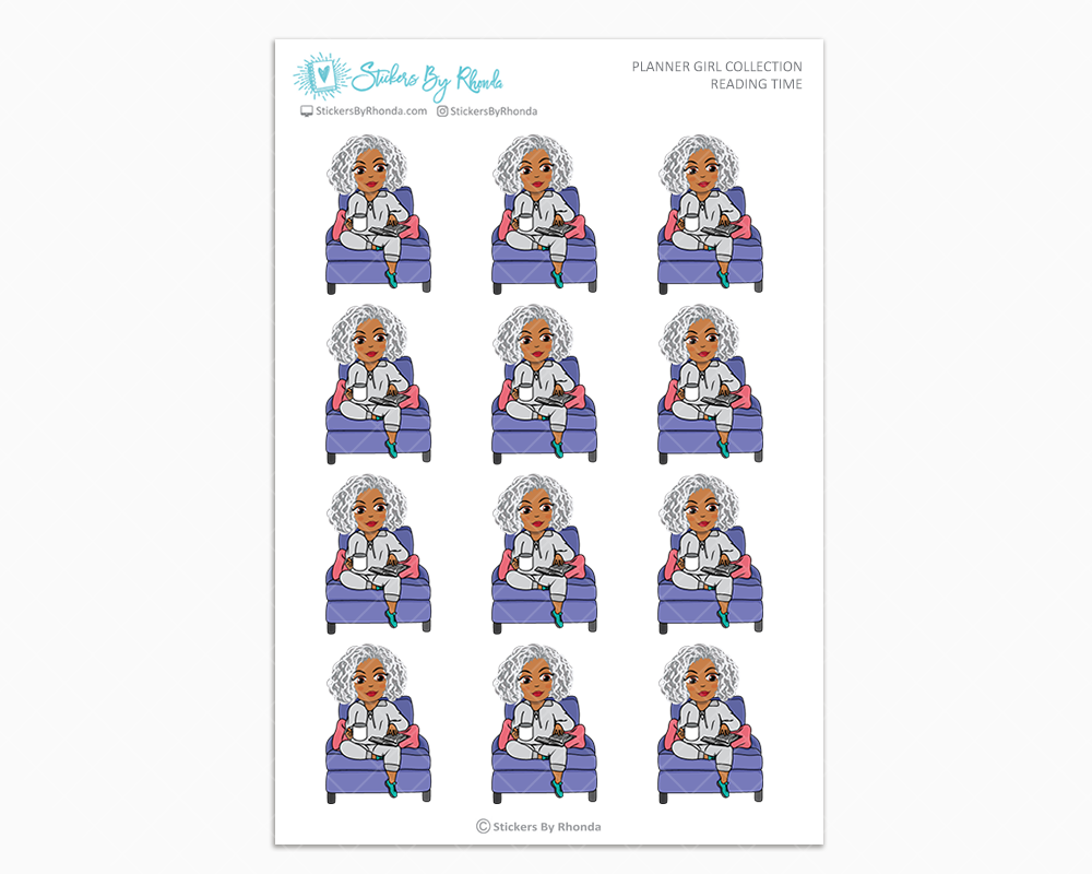 Sylvia - Reading Time - Planner Girl Collection - Planner Stickers