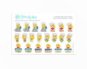 Meal Prep/Cooking Planner Stickers - Emma