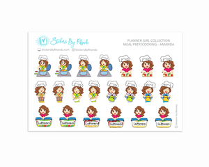 Meal Prep/Cooking Planner Stickers - Amanda