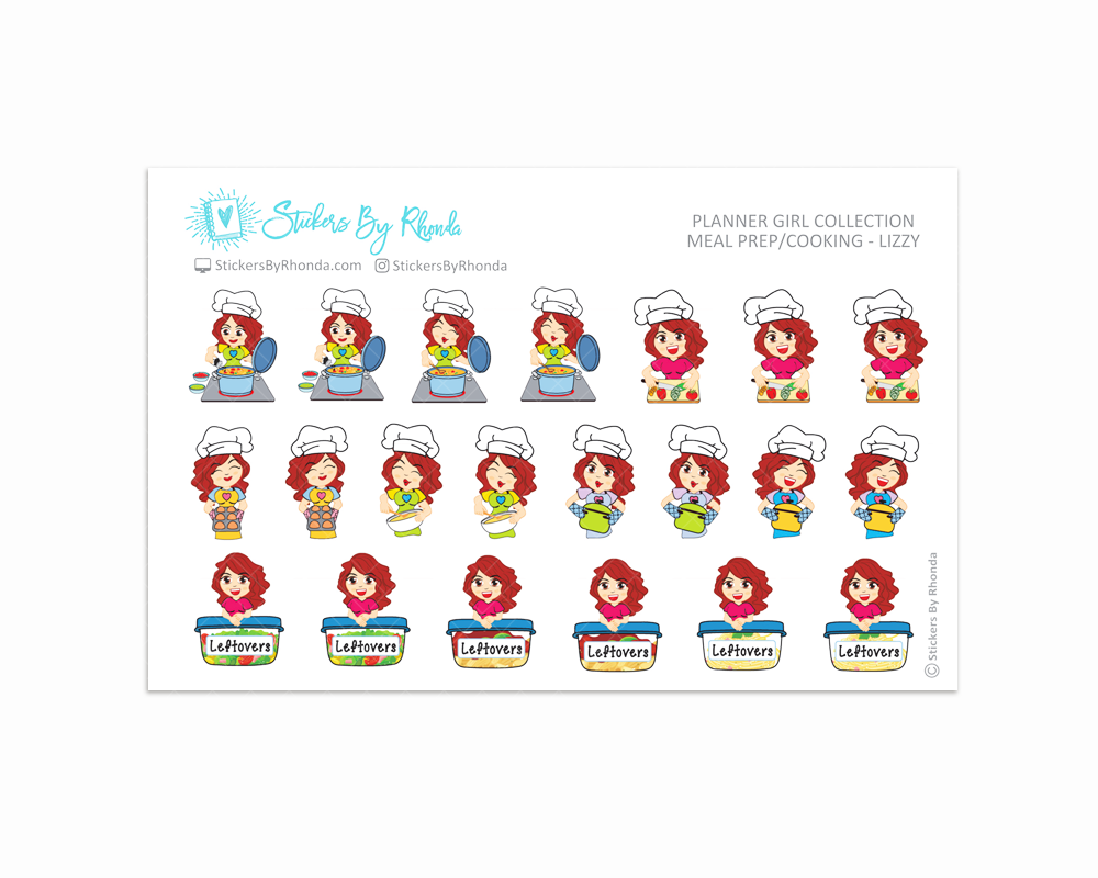 Meal Prep/Cooking Planner Stickers - Lizzy