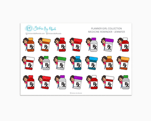 Medicine Reminder Planner Stickers - Jennifer