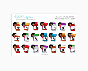 Medicine Reminder Planner Stickers - Ebony