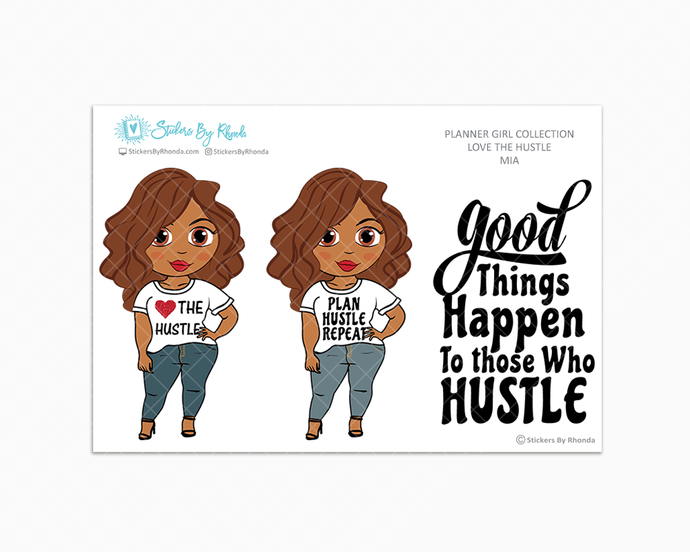 Mia - Love The Hustle - Limited Edition - Planner Girl Stickers