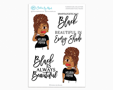 Mia With Locs - Unapologetically Black- Limited Edition - Planner Girl Collection