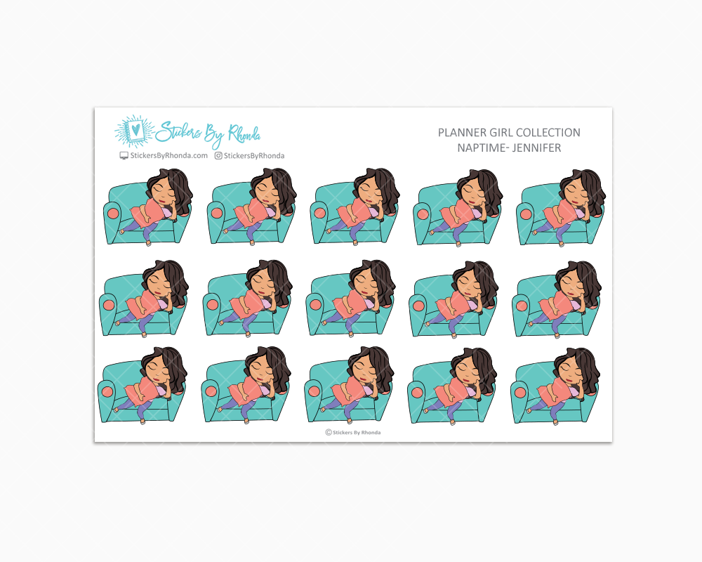 Naptime Planner Stickers - Jennifer