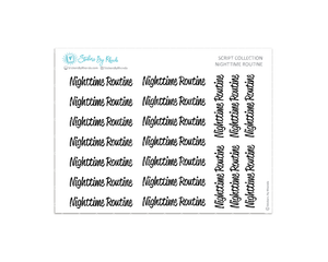 Nighttime Routine Stickers - Script Collection
