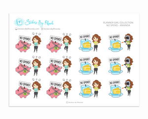 No Spend Planner Stickers - Amanda