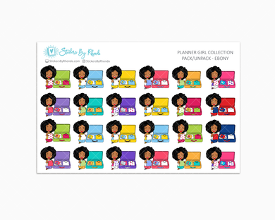 Pack/Unpack Planner Stickers - Ebony