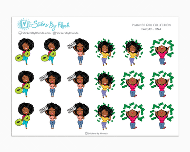 Payday Planner Stickers - Tina