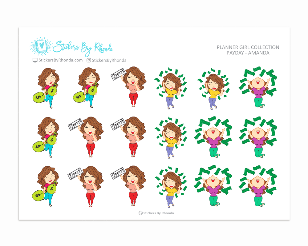 Payday Planner Stickers - Amanda