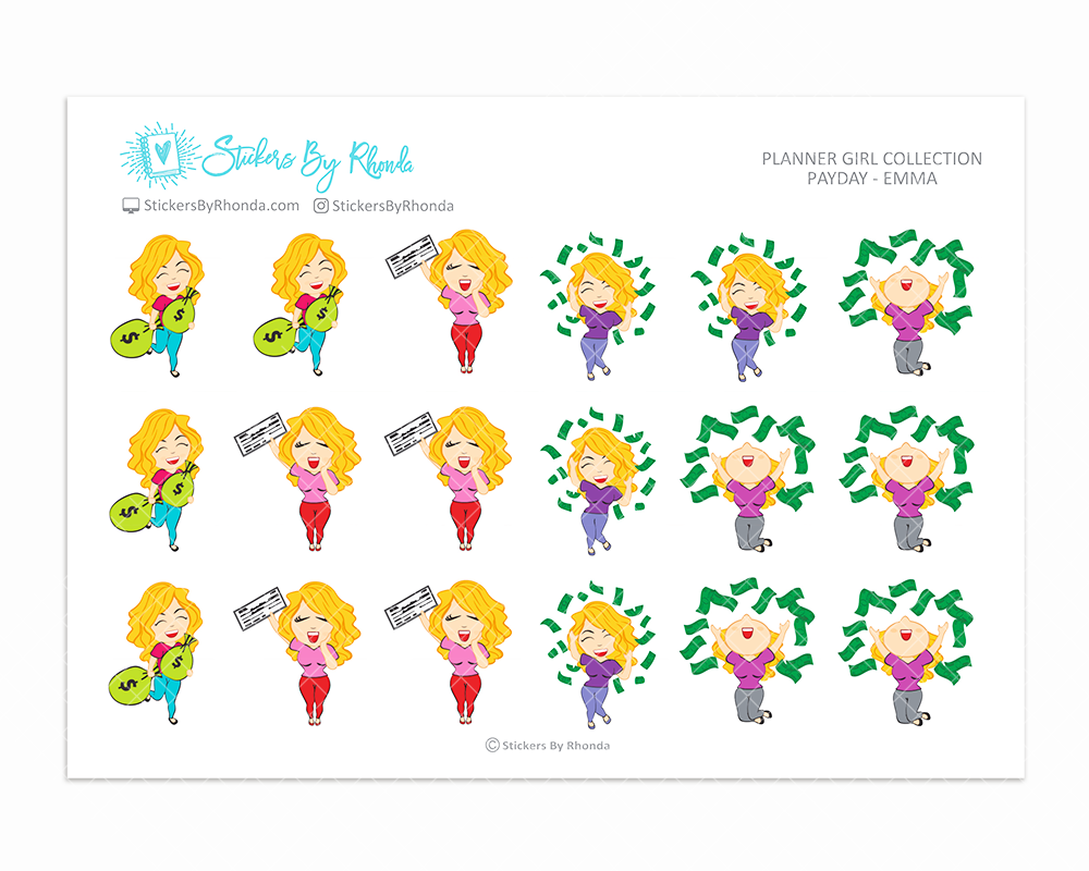 Payday Planner Stickers - Emma