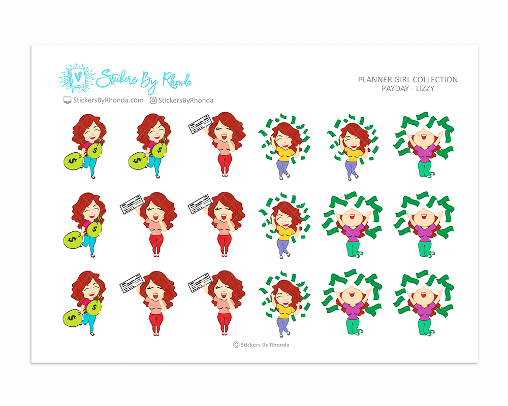 Payday Planner Stickers - Lizzy