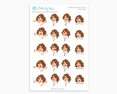 Amanda - Peek-A-Boo Planner Girl Stickers