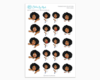 Ebony - Peek-A-Boo Planner Girl Stickers