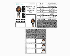 Tanya - Know Your Worth Petite Kit - Planner Girl Collection