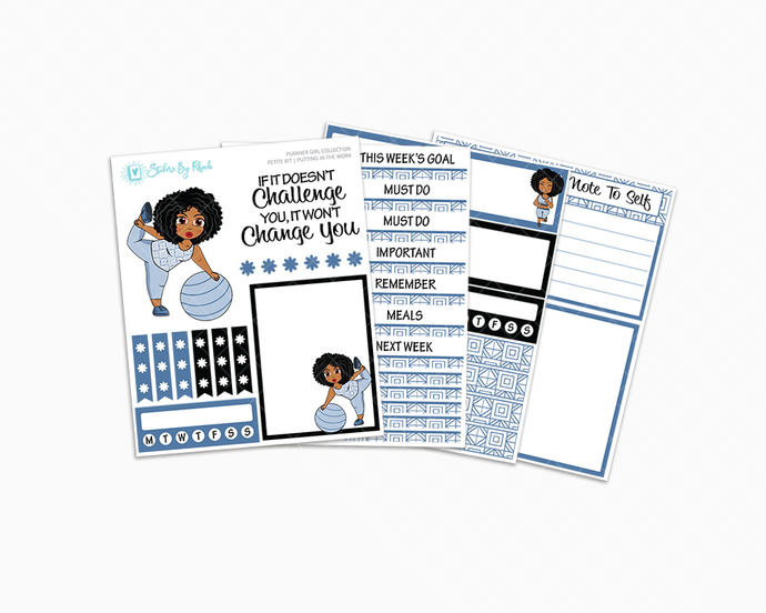 Ebony - Putting In The Work Petite Kit - Planner Girl Collection