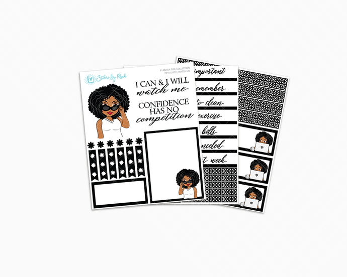 Ebony - Watch Me Petite Kit - Planner Girl Collection