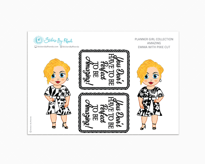 Emma With Pixie Cut - Amazing -  Limited Edition - Planner Girl Collection