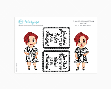 Lizzy With Pixie Cut - Amazing -  Limited Edition - Planner Girl Collection