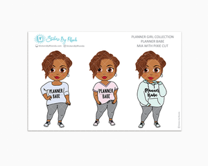 Mia With Pixie Cut -  Limited Edition - Planner Babe Stickers