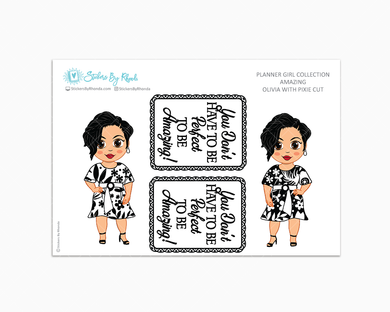 Olivia With Pixie Cut - Amazing -  Limited Edition - Planner Girl Collection
