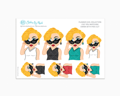 Emma With Pixie Cut - I See You Watching -  Limited Edition - Planner Girl Collection
