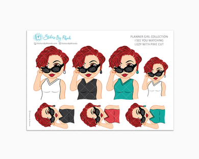 Lizzy With Pixie Cut - I See You Watching -  Limited Edition - Planner Girl Collection