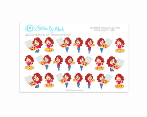 Pizza Night Planner Stickers - Lizzy