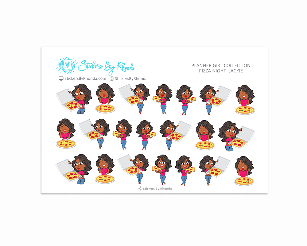 Pizza Night Planner Stickers - Jackie